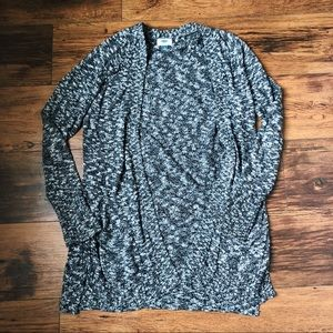 Black and white speckled cardigan